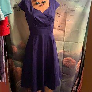 New Royal Blue Women's cap sleeve Med Dress